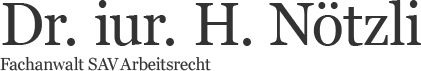 Dr. iur. Harry Nötzli Logo